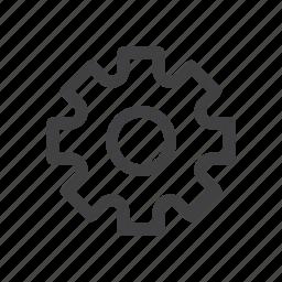 cog, gear, settings, wheel icon