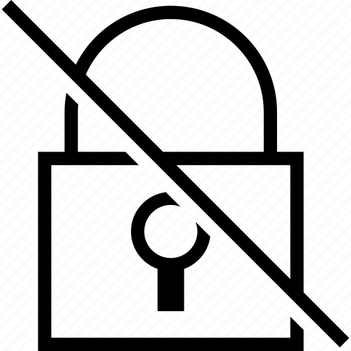 disabled, insecure, lock, off, padlock, secure, security icon