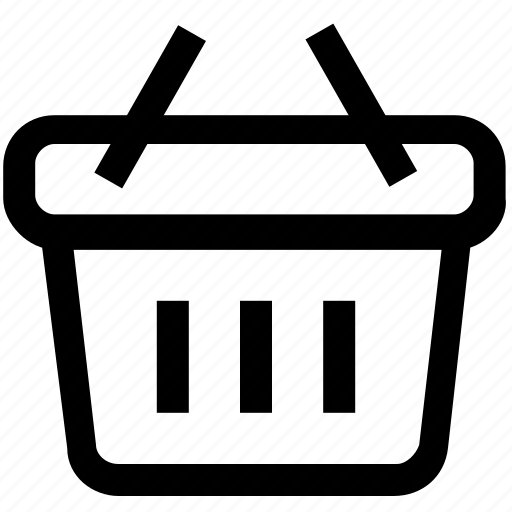 .svg, basket, carry, handled, shopping icon