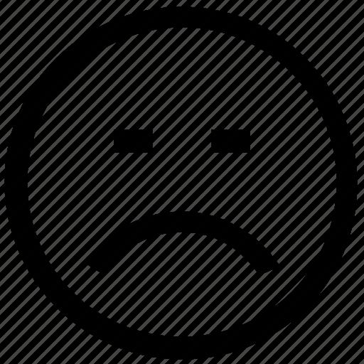 .svg, emoticon, face, sad, scared, smiley icon