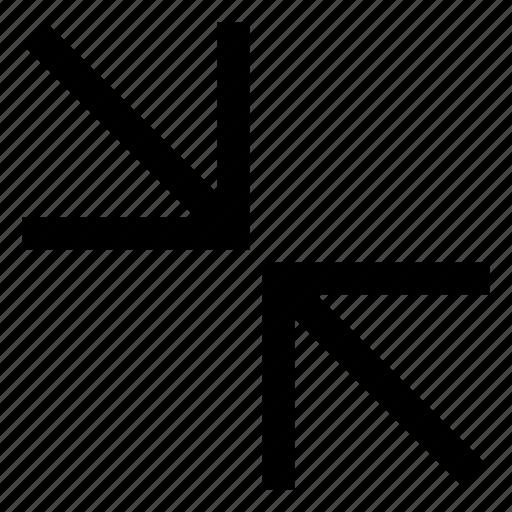 .svg, arrows, collapse, diagonal icon