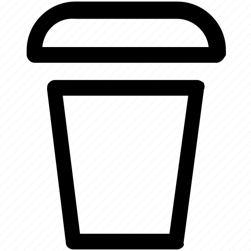 .svg, coffee, covered, disposable, paper cup icon