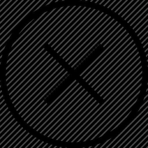 delete, error, less, mark, problem, remove, x icon