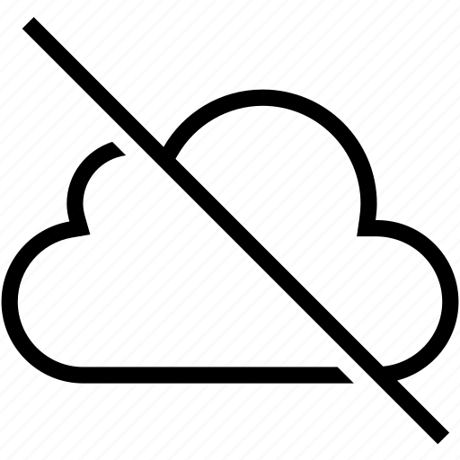 cloud, computing, deactivated, disabled, off icon