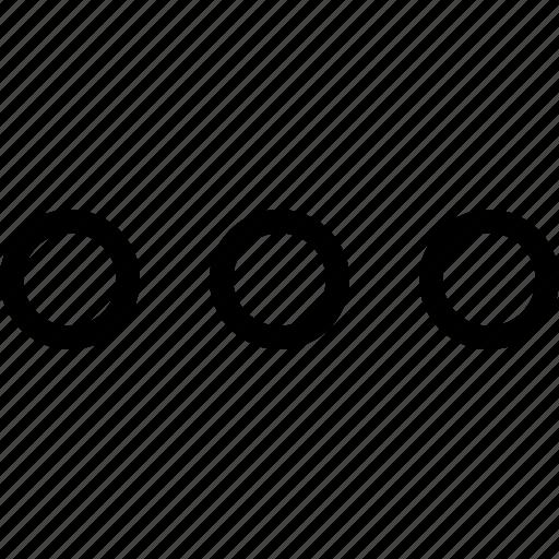 dot, more, three icon