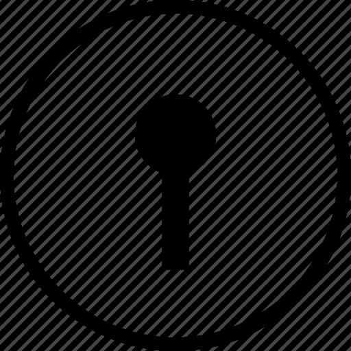 hole, key, keyhole, lock icon