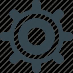 cog, cogwheel, configuration, gear, interface, setting, system icon