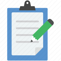 document, note, notepad, pencil, writing pad icon