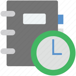 appointment, clock, diary, schedule, time frame icon