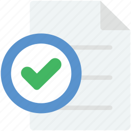 approved, certified, check, checkbox, tick sign icon