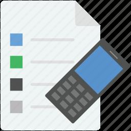 checklist, checklist access, list, mobile, mobile checklist icon