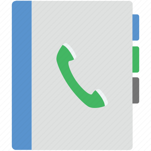 address book, diary, phone book, phone directory, reading icon