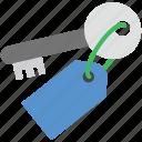 key, key tag, lock, password, protection