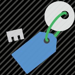 key, key tag, lock, password, protection icon