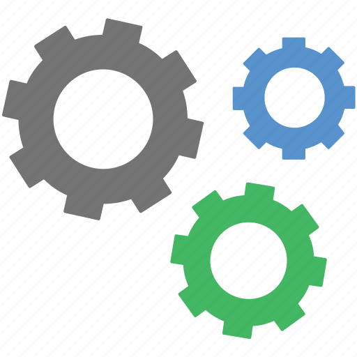 cog wheels, cogs, gears, optimization, options icon