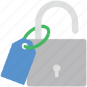 lock, lock tag, privacy, protection, tag icon
