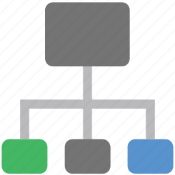 computing share, hierarchy, network, share, structure icon