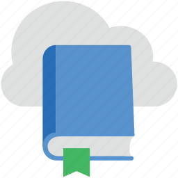 book, cloud with book, education, learning book, lecture book icon
