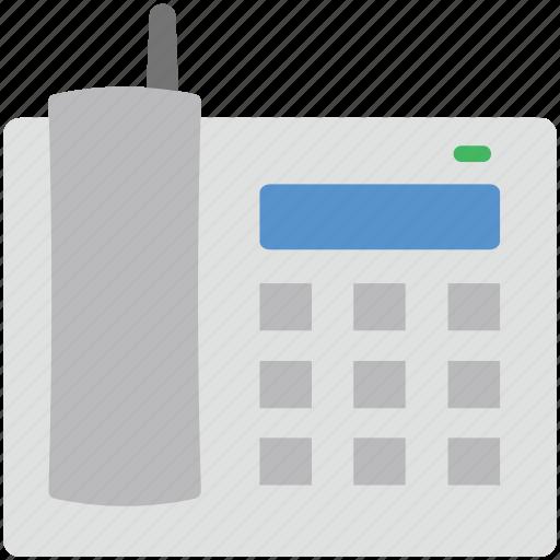 landline phone, retro telephone, ringing, telecommunication, telephone set icon