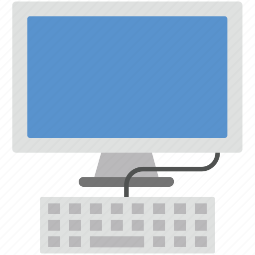lcd with keyboard, monitor, screen, work, workstation icon