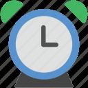 alarm clock, alert, clock, timepiece, timer icon