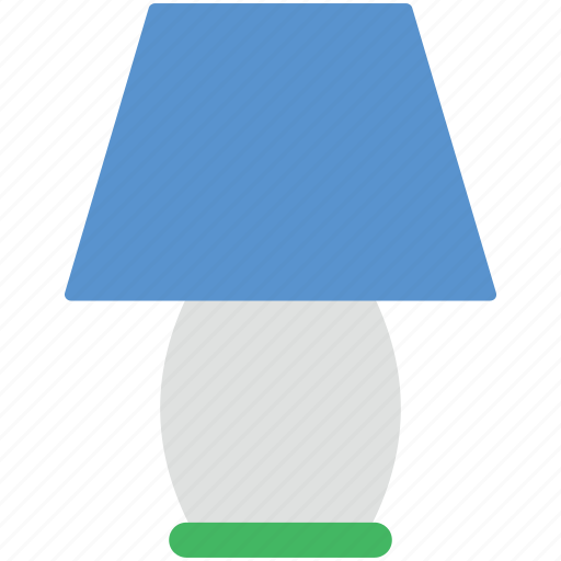 bedroom lamp, lamp, light, light bulb, night lamp, room lamp icon