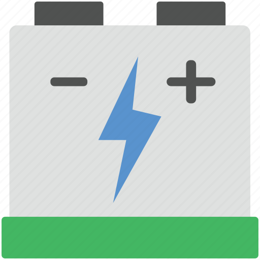 battery, car battery, negative, positive, power supply icon