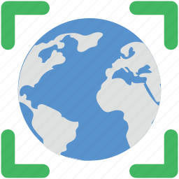 earth, earth grid, globe, planet, world map icon