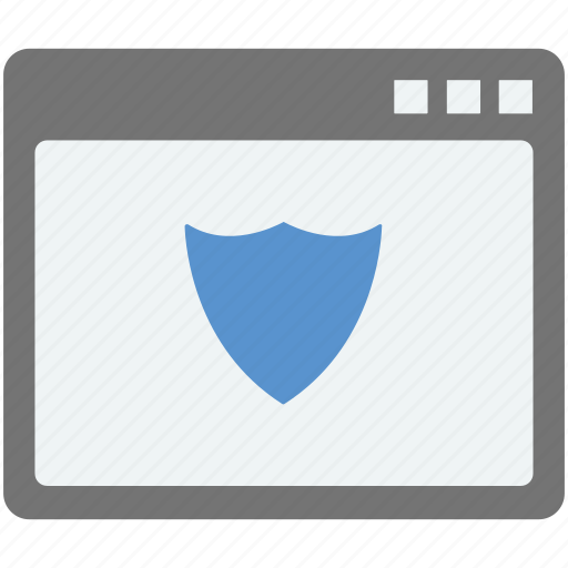 page protection, web protection, web shield, website, website and shield icon
