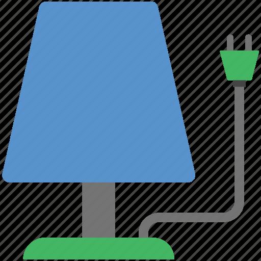 bedroom lamp, lamp, light, light bulb, night lamp, room lamp icon