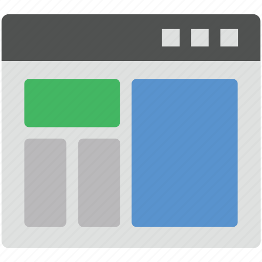 diagram, format, page design, template, web layout icon