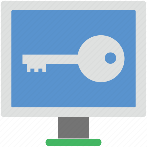 key, lcd protection, online key, screen padlock, screen password icon