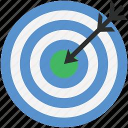 archery arrow, bullseye, dart, dartboard, target icon