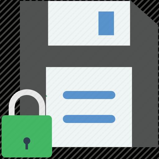 floppy, floppy locked, floppy protection, locked, padlock icon