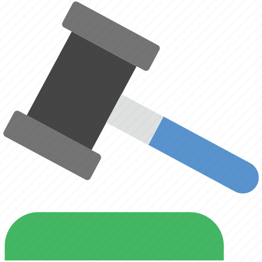 auction, gavel, justice, law symbol, mallet icon
