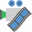 audiovisual, camera reel, camera with reel, film reel, reel icon
