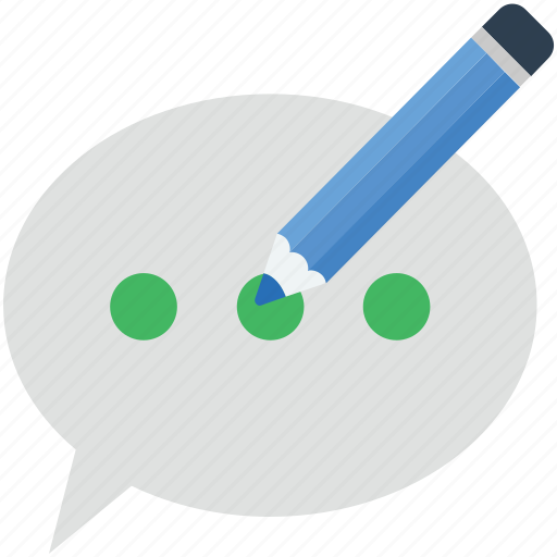 chat balloon, chat bubble, chat compose, speech balloon, speech bubble icon