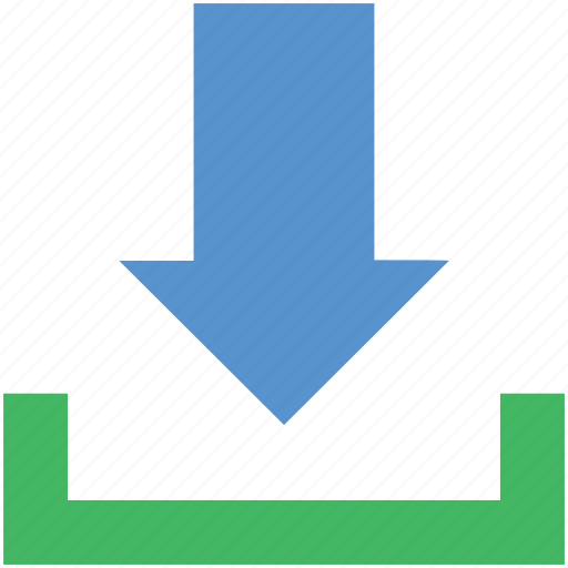 arrow, down arrow, download, download file, save file icon