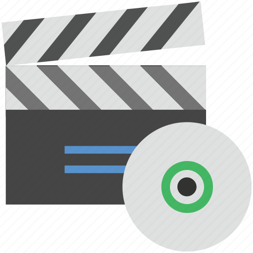 clapboard, clapper, clapper with cd, clapperboard, filmmaking board icon