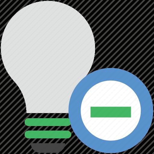 bulb, light, lightbulb, remove bulb, remove light icon