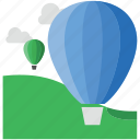 air balloon, airplay, balloon, flying, skydiving icon