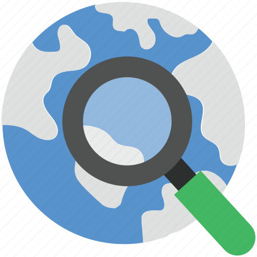 digital globe, global network, planet, search globe, searching map icon