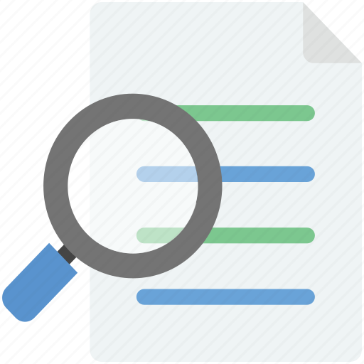 extension file, magnifier, magnifying, search documents, search file icon