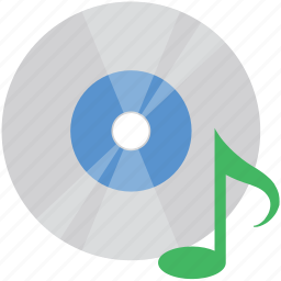 cd, compact disk, music, music cd, music wave icon