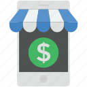 mobile marketing, mobile shop, online marketplace, online shop, phone marketing icon