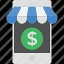 mobile marketing, mobile shop, online marketplace, online shop, phone marketing icon
