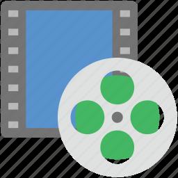 audiovisual, camera reel, camera with reel, film reel, reel icon