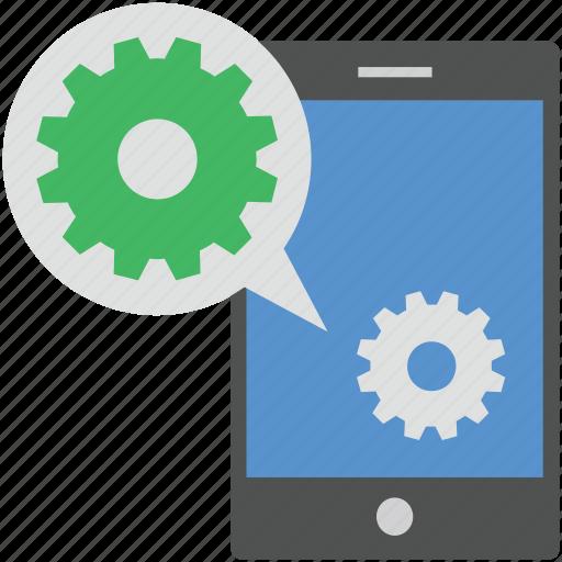 chat setting, mobile, mobile chat setting, mobile phone, sms setting icon
