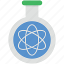 atom, atom flask, lab, molecule, sample flask