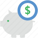 donation, finance, funds, piggy bank, savings icon